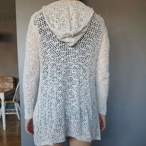 Cynthia Rowley Sweaters - Cream crochet cardigan